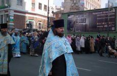 Прихожане храма приняли участие в Крестном ходе и городском молебне